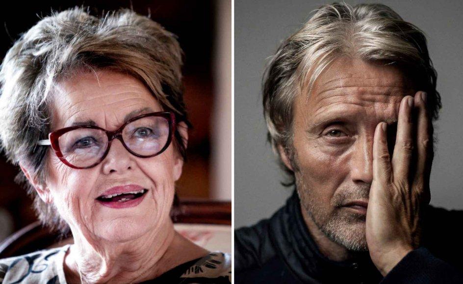 """Ghita Nørby mente, at selvom hendes yngre kollega Mads Mikkelsen var et sødt menneske, så var det et problem, at han ikke artikulerede ordentligt i den prisbelønnede """"Druk""""."""