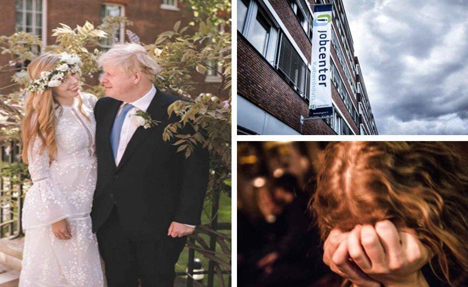 Boris Johnsons bryllup kritiseres af katolikker, Ydelseskommission kommer med forslag til nyt kontanthjælpssystem, og flere børn og unge kommer forbi psykiatriske afdelinger. Fotos: Pool/Reuters/Ritzau Scanpix, Ólafur Steinar Gestsson/Ritzau Scanpix, Thomas Lekfeldt/Ritzau Scanpix