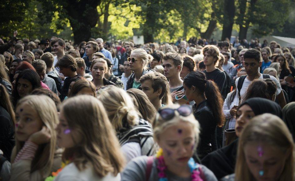 Der er et problem med grænseoverskridende adfærd i ungdomspartierne i Danmark. Her ses unge til festivalen Ungdommens Folkemøde.