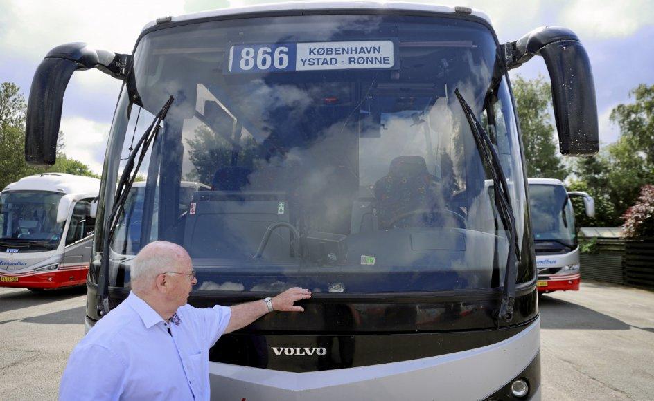 Onsdag i sidste uge blev Bornholmerbussen ramt af stenkast på vejen mellem Malmø og Ystad i Sverige. De fleste episoder med stenkast har fundet sted på denne strækning.