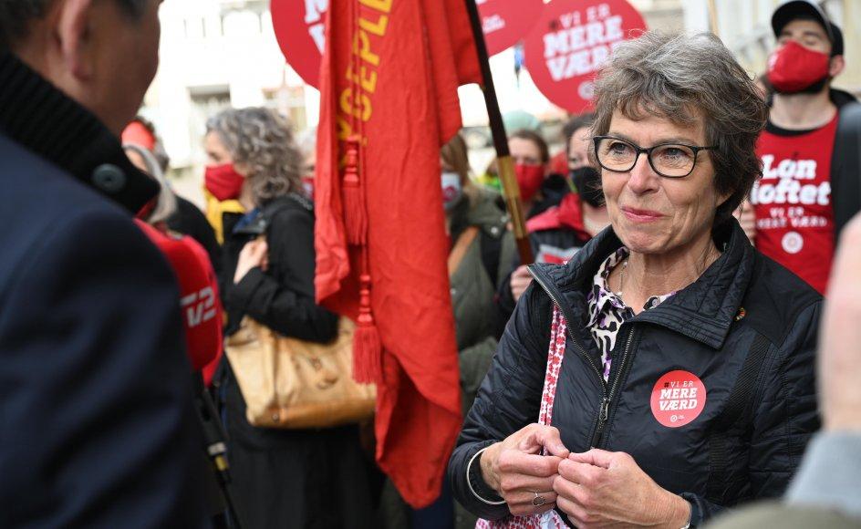 Grethe Christensen afviser ikke, at flere sygeplejersker kan blive udtaget til den strejke, der har været i gang siden 19. juni. (Arkivfoto)