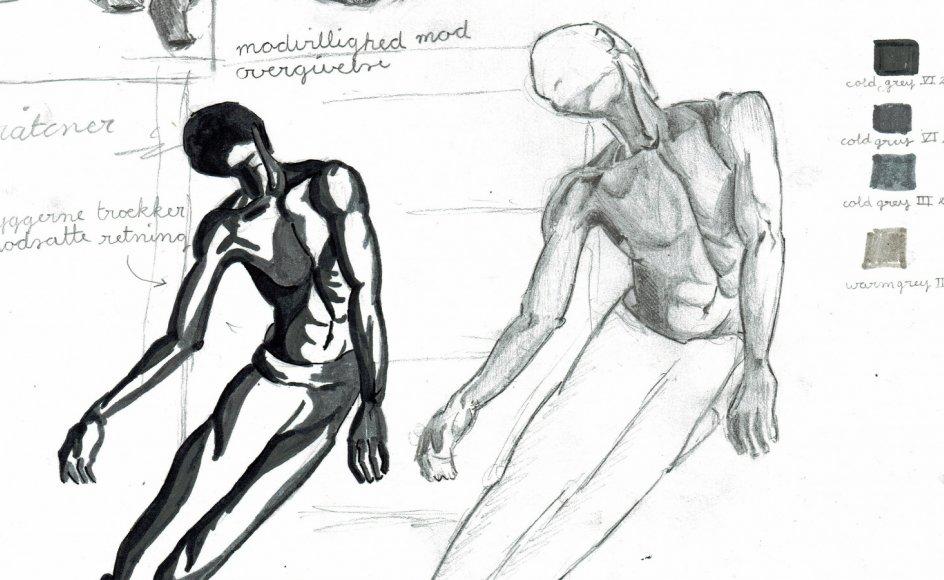 På Børne- og Ungdomspsykiatrisk Afdeling Odense er de unge patienter én gang om ugen blevet undervist af billedkunstner Karsten Auerbach, som har givet dem frie rammer til at skabe kunst på deres egne præmisser.