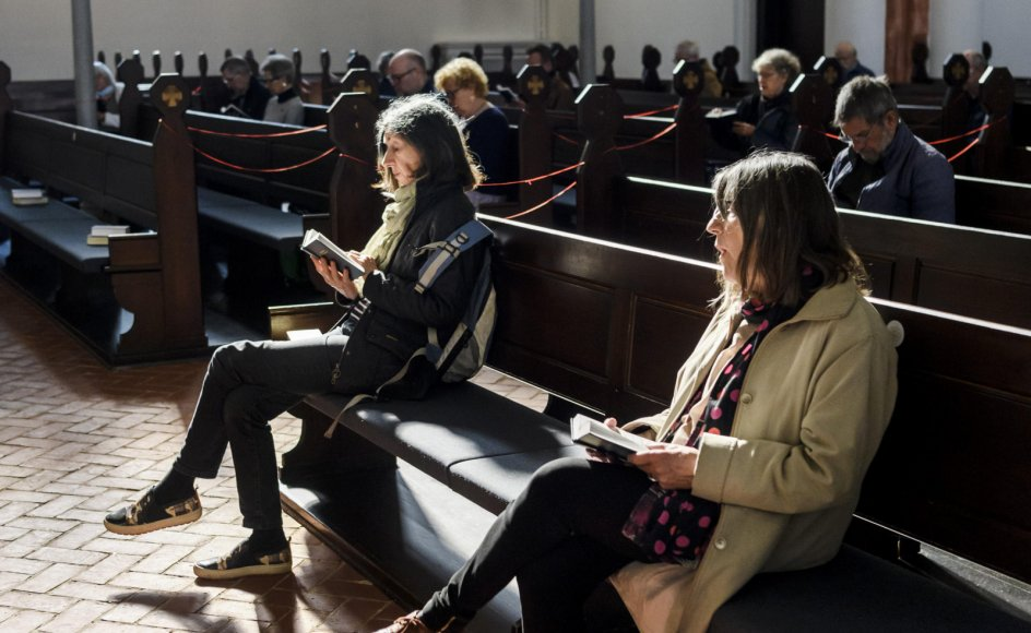 Da der var morgensang i Sankt Markus Kirke på Frederiksberg tidligere på året, holdt deltagerne to meters afstand. Men det havde de ikke nødvendigvis behøvet.