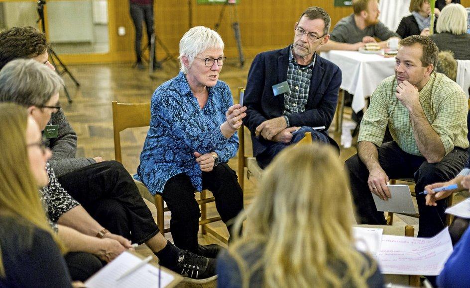 """Aarhus Stift beskrives som en frontløber inden for samskabelse mellem kirke og kommune. Her ses deltagere i konferencen """"Fælles om"""" , som blev holdt på Aarhus Rådhus i 2018 for kommunen, folkekirken og organisationer."""