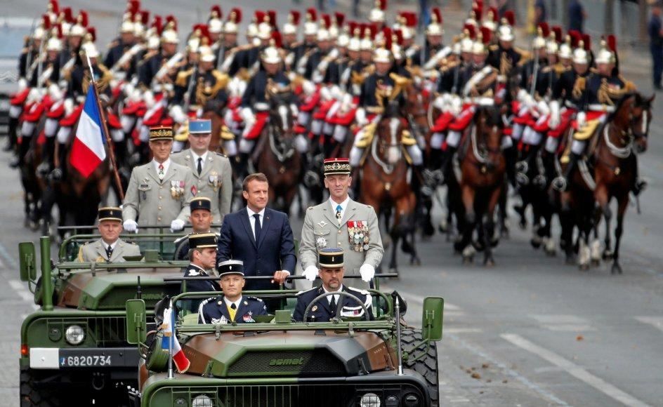 """""""Den franske hær og Operation Barkhane har forhindret oprettelsen af et kalifat og en organiseret terrorstat i Mali,"""" sagde præsident Emmanuel Macron i sin tale efter militærparaden på Champs Elysées i Paris på Bastilledagen den 14. juli."""