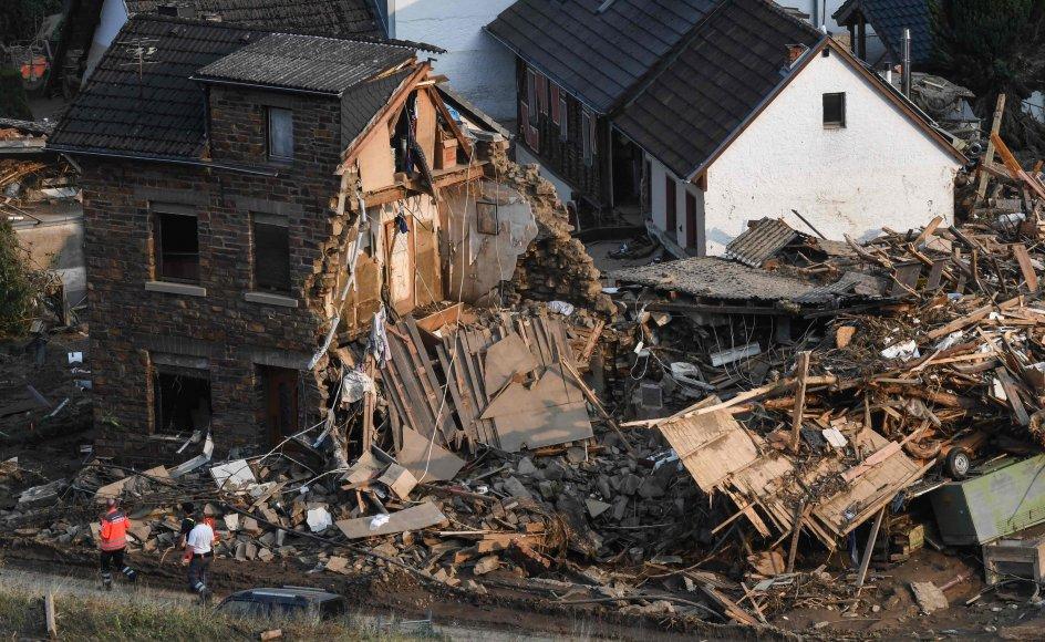 Oversvømmelser har skabt voldsomme ødelæggelser i Tyskland. Her ses nogle af konsekvenserne i byen Altenburg.