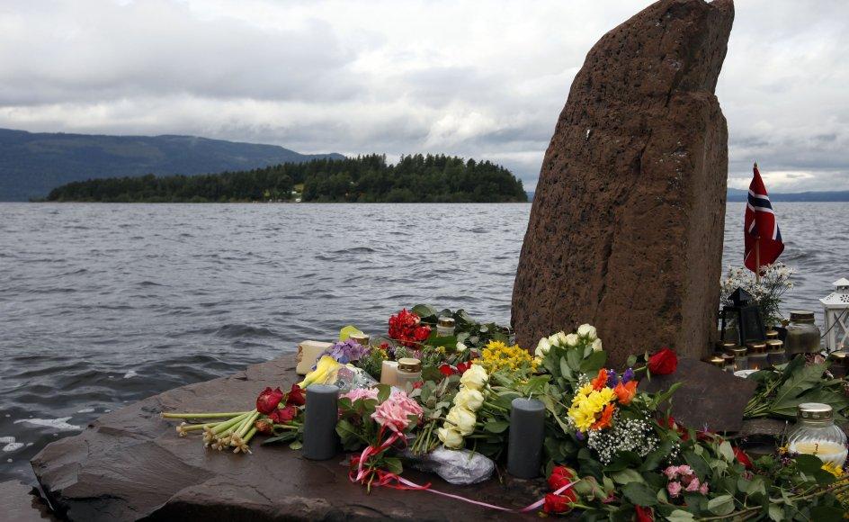 69 blev dræbt på øen Utøya 22. juli 2011, hvor Anders Behring Breivik skød unge fra AUF under en sommerlejr på øen. (Arkivfoto).
