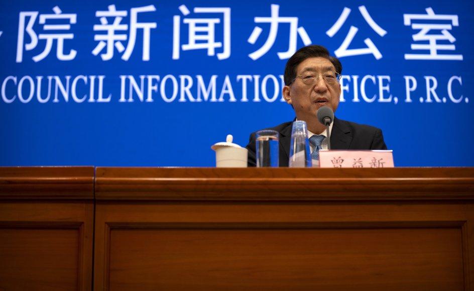 Zeng Yixin, der er viceminister i Kinas nationale sundhedskommission, afviser WHO-plan om yderligere i undersøgelser i markeder og laboratorier.