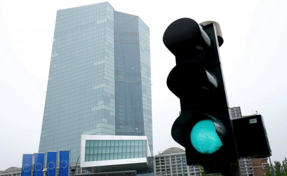 Den Europæiske Centralbank, kendt som ECB, har hovedkvarter i den tyske finansby Frankfurt. (Arkivfoto)