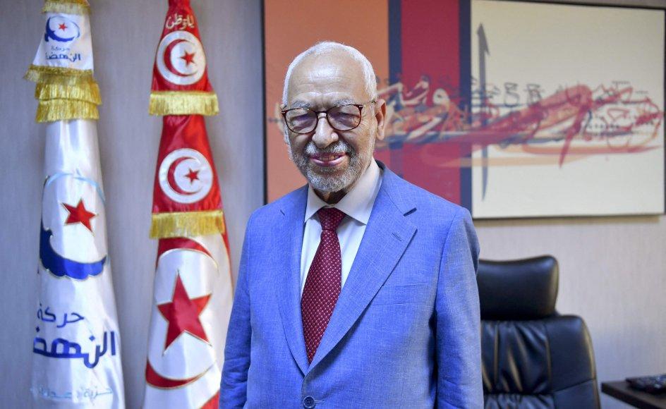 Rached Ghannouchi er leder af partiet Ennahda, der blev grundlagt i 1981. (Arkivfoto)