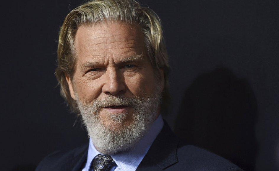"""71-årige Jeff Bridges er blandt andet kendt for sine roller i filmene """"The Big Lebowski"""", """"Crazy Heart"""" og """"True Grit"""". (Arkivfoto)"""