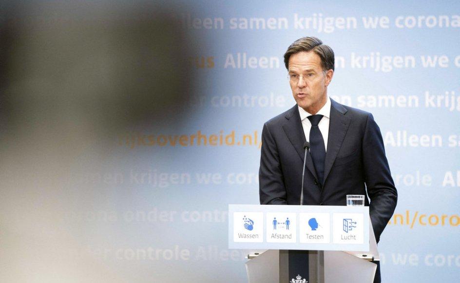 Tirsdag aften fremlagde Hollands premierminister, Mark Rutte, planer for en yderligere genåbning af landet.