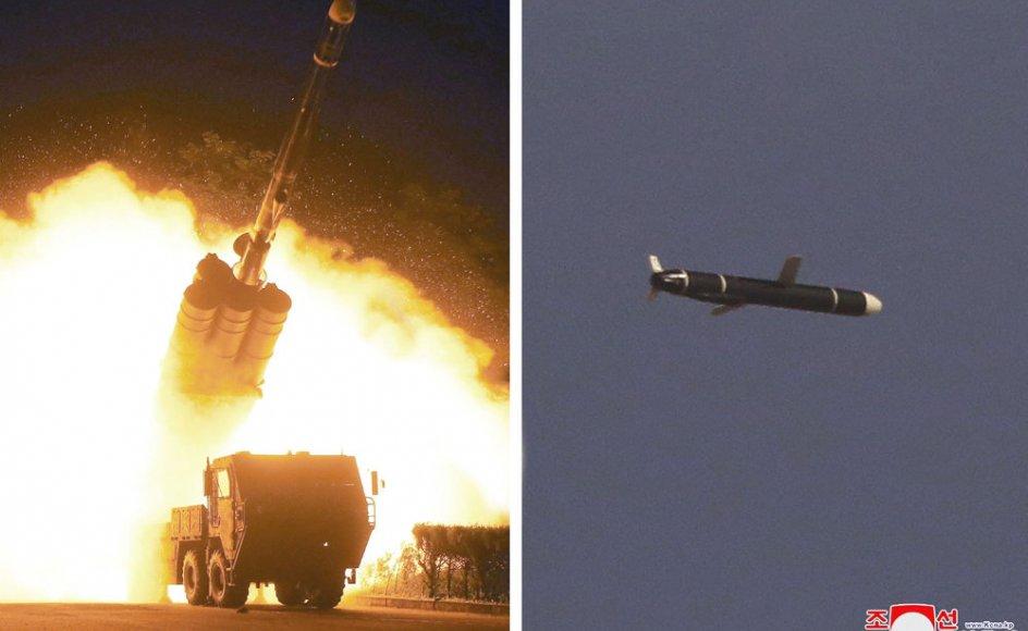 Nordkoreas statslige nyhedsbureau, KCNA, offentliggjorde mandag et kombinationsbillede, der viser en prøveaffyring af en ny type langtrækkende missil. Onsdag har Nordkorea foretaget en ny prøveaffyring, meddeler den sydkoreanske forsvarskommando.