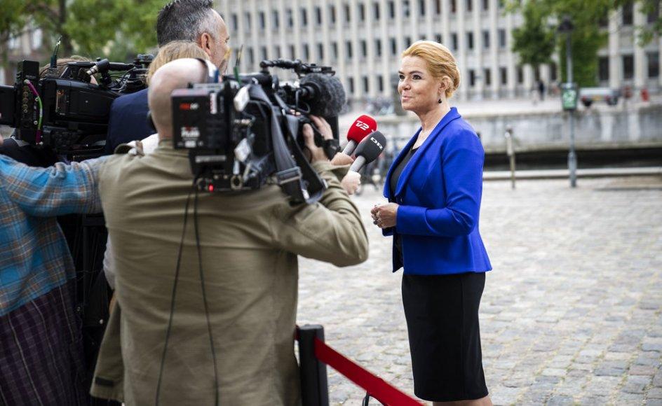 Inger Støjberg skal onsdag igen vidne i rigsretssagen med hende selv i hovedrollen. Her ses hun tirsdag.