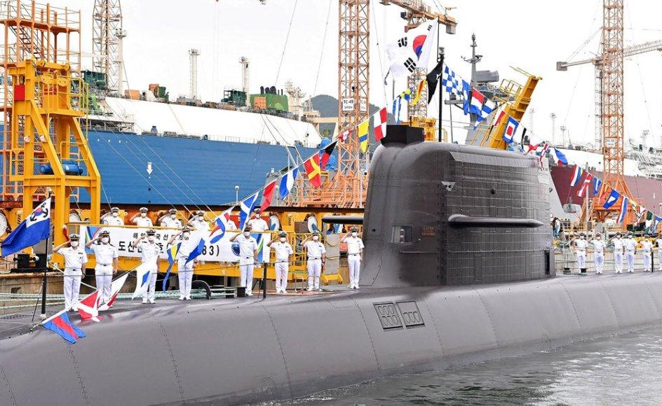 """Det var ubåden """"Ahn Chang-ho"""", der onsdag stod bag affyringen af et nyt sydkoreansk ubådsmissil (Arkivfoto)."""