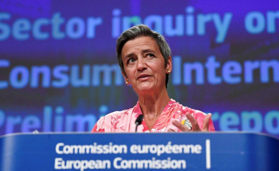 Margrethe Vestager er en af EU-kommissærerne med fokus på det digitale. Hun siger, at det er vigtigt, at teknologien styrker mennesker. (Arkivfoto).