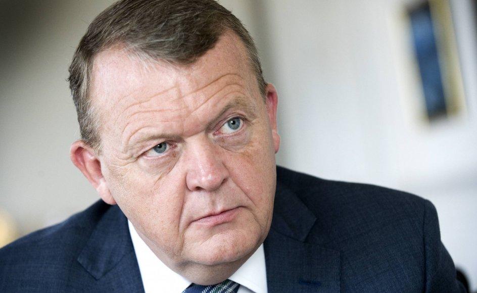 """""""Jeg er den, jeg er. Og jeg har et liberalt udgangspunkt. Jeg vågnede ikke op den 1. januar og blev til et nyt menneske. Så jeg ville nok sige, at vi er et centrum-højre parti,"""" siger Lars Løkke Rasmussen."""