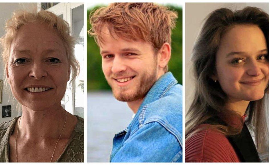 Fra venstre: Lis Mærsk Staunstrup, Jens-August Bonnemose Poulsen og Ida Mikkelsen. De er alle blandt de dygtige og heldige, som er blevet optaget på teologistudiet.