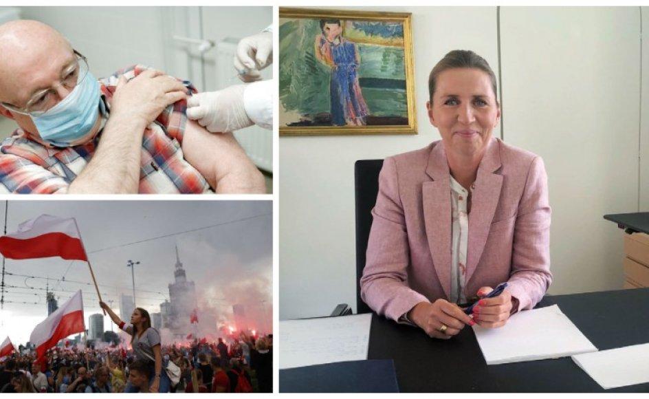 Lande som Israel og Ungarn tilbyder nu et tredje vaccinestik til landenes ældre borgere, Mette Frederiksen nævner den verserende lønstrejke blandt sygeplejersker i et Facebook-opslag, og den 1. august fejrede polakkerne 77-årsjubilæet for landets selvstændighed; en dag, der på sin vis stadig smerter landets jøder, fordi de ikke længere kan ansøge om at få deres konfiskerede boliger tilbage.